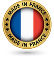 Made in France gold label vector image