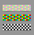 Chessboard banners vector image vector image