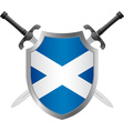 shield with flag of scotland vector image