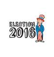 Election 2016 Uncle Sam Shouting Retro vector image
