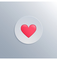 Minimalistic with a heart icon vector image