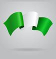 Nigerian waving Flag vector image