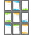 Set of brochures with squares vector image