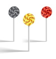 Set of lollypop vector image