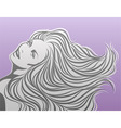 sexy girl beautiful vector illustration vector image