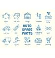 Set of auto spare parts vector image