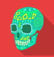 mexican calavera skull icon in flat style isolated vector image