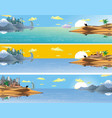 a set of panoramic landscapes of asia vector image