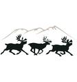deer's vector image vector image
