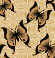 Seamless Butterfly Wallpaper vector image