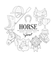 Horse Related Vintage Sketch vector image
