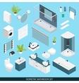 Bathroom Isometric Icon Set vector image