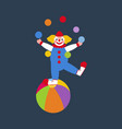 clown juggler vector image