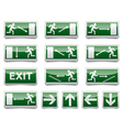 Danger exit warning sign vector image