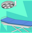 operating room table and medical lighting vector image