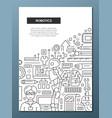 robotics - line design brochure poster template a4 vector image