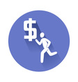 running fugure with dollar vector image