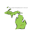 State of Michigan vector image