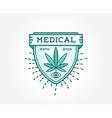 Medical Cannabis Marijuana Sign or Label Template vector image