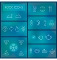 Set of food thin line icons for web and mobile vector image vector image