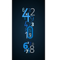 Exclamation mark font from numbers vector image