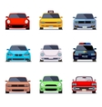 Car flat icons in front view vector image