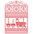christmas pattern with gravy train vector image