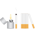 Cigarette and lighter vector image