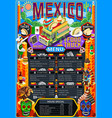 Food truck menu street food mexican festival vector image