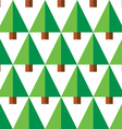 Geometric seamless pattern with green trees vector image
