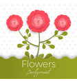 paper flowers background with exotic flowers of vector image