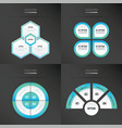 template design 4 item blue color vector image
