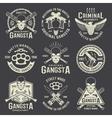 Criminal Authority Monochrome Emblems vector image