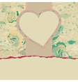 Wedding card or invitation with floral EPS 8 vector image