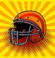 football helmet pop art style vector image