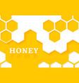 Honeycomb background of geometric vector image