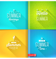 Booklet template - set of summer greeting sign vector image