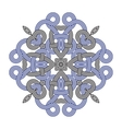 Contemporary doily round lace floral pattern vector image vector image