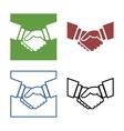 Business handshake set vector image