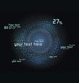 Futuristic infographics vector image