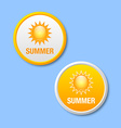 Summer icons vector image vector image