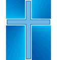shiny cross abstract vector image vector image