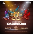 Masquerade Realistic Poster vector image