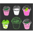Hand drawn mousse vector image