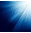 Blue luminous rays vector image