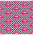 Glamour seamless lip pattern vector image