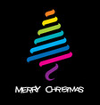colorful merry christmas design vector image