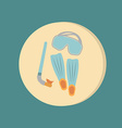 diving mask fins and snorkel diving symbol sea vector image