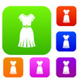 dress set color collection vector image