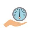fuel gauge icon vector image